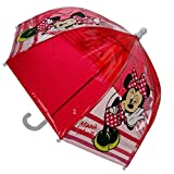 Disney Minnie Mouse - Enfants parapluie transparent - Couleur Rouge