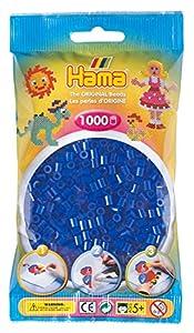 HAMA 207-36  - Cuentas color azul de neón (1000 unidades) Importado de Alemania