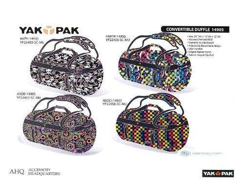 Yak Pak Tasche Convertible Duffle 20 Zoll Tribal Splatter Heart