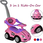 3 IN 1 Activity Ride-On for Unisex(Pink,C381/382)baby ride on toys,baby scooter for 2years,push scooter for to