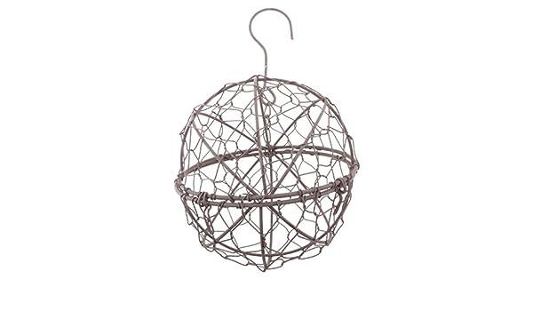 13cm Rustic Iron Wire Ball Shape Succulent Pot Iron Hanging Planter Plant