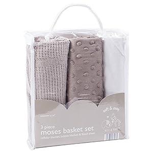 3 Piece Moses Basket Set - Elli & Raff