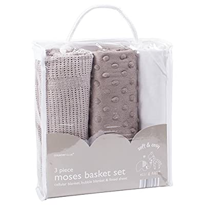 3 Piece Moses Basket Set - Elli & Raff
