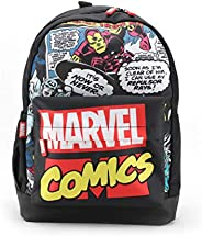 Marvel Polyester Comic Avengers With Faux Leather Base 17 Inch 20 Liter Casual Backpack (Multicolor)