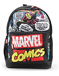 Marvel Comic Avengers 17 Inch / 20 Ltrs Casual Backpack with Faux Leather Base