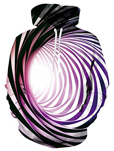 Tier Kostüm Teen - Fanient Teens Swirl Hoodie 3D-Druck Coole Grafik Langarm-Sweatshirts Cool Purple
