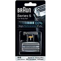 Braun 51S - Recambio de lamina y cuchillas Para la Series 5 (generación anterior), ContourPro, 360 °, Completo, Activator, Plateado