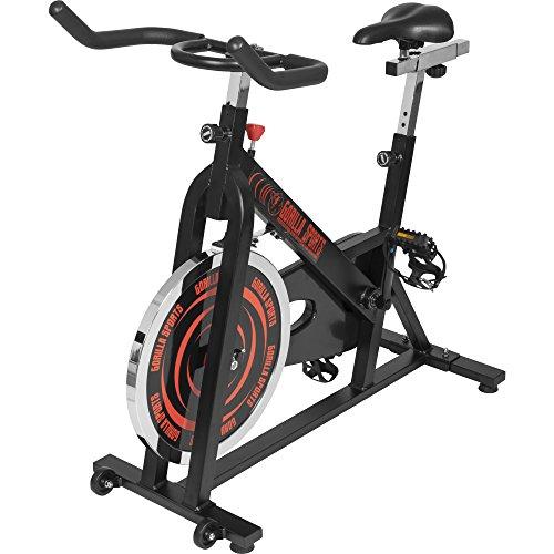 GORILLA SPORTS® Indoor Cycling Bike mit 13 kg Schwungrad - Profi-Heimtrainer Fahrrad für Zuhause bis 110 kg belastbar