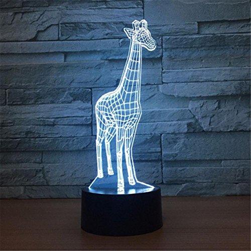 3D Lámpara Ilusión óptica LED Luz Noche 7 Cambio