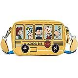 Borsa a tracolla per bambini cartone animato femminile stampa graffiti piccola borsa quadrata moda carino Borsa a tracolla marea, giallo