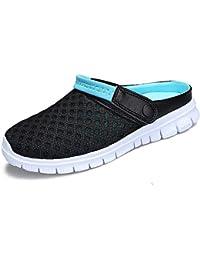 JACKSHIBO Herren Sommer Atmungsaktiv Sandale Hausschuhe Damen Outdoor Slippers Wasserschuhe