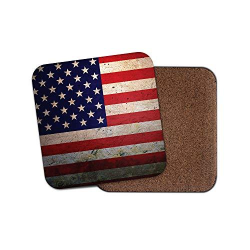 Untersetzer mit USA-Flagge, Vintage-amerikanisches Amerika-Motiv, lustiges Geschenk #8879