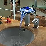 CNHK baño grifos del fregadero personalizada solo grifo del fregadero LED con dos cromo, cobre y plata temporal