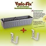 Vario-Fix Kombiangebot Duo 15 Haltebügel mit Blumenkasten 80cm, Anthrazit