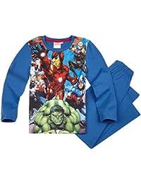 Pyjama long enfant garçon Les Avengers Bleu de 6 à 12ans
