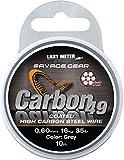 Savage Gear Carbon 49 Stahlvorfach 7x7 10m, Vorfach für Hecht, Zander & Barsch, Vorfachschnur für Raubfischvorfächer, Stahl für Stahlvorfächer, ummanteltes Vorfach, Durchmesser/Tragkraft:0.60mm / 16kg Tragkraft