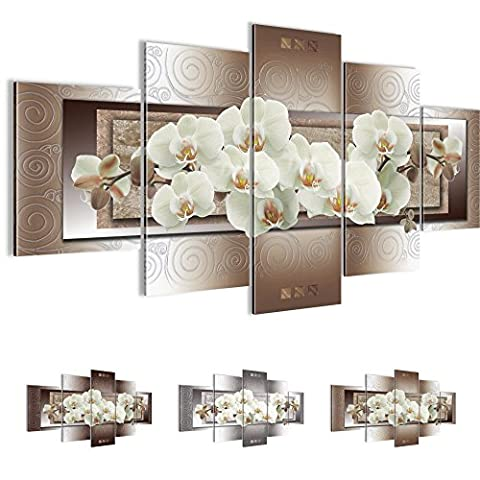 Bilder 200 x 100 cm - Orchidee Bild - Vlies Leinwand - Kunstdrucke -Wandbild - XXL Format – mehrere Farben und Größen im Shop - Fertig Aufgespannt !!! 100% MADE IN GERMANY !!! - Blumen – Abstrakt