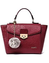 Nawo Leather Designer Handbags Shoulder Tote Top-Handle Bag Clutch Purse For Women