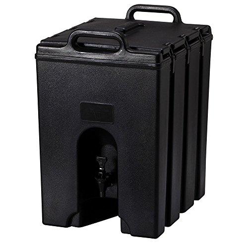 Cambro Camtainer Contenedor Isotermico de Liquidos con Grifo, Negro, 64x52x43 cm