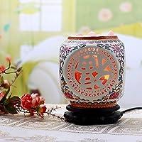 HimalayaSlampada di cristallo di sale di grado/idee regalo/camera da letto lampada da tavolo vaso cinese-rosa 1 - Belle Cristallo Vasi