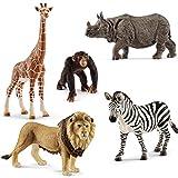Schleich Wild Life Afrika Löwe Schimpanse Giraffe Zebra Panzernashorn Spielfiguren Set