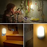 LED Night Light, iTechole Plug-and-Play Automatic Wall Lights with Dusk to Dawn Photocell Sensor, Night Lamp Lighting for Babyroom, Kids, Children's room, Nurseries, Stair, Hallway, etc-Warm White - 5
