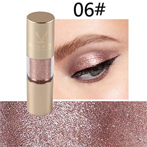Eyeliner Liquide Pigments métalliques yeux Smoky Waterproof Eyeshadow Glitter Paillette Eyeliner liquide crayon fard à paupières Platine (F)