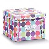 2x ZELLER DVD BOX mit DECKEL 'Dots' für 26 DVD's NEU AUFBEWAHRUNGSBOX KISTE