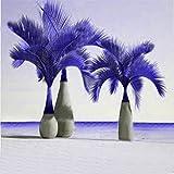 Inovey 20 Stk exotisch Flasche Palm Seeds Bonsai tropisch ornamental Pflanzen Samen Garten Pflanzen - Lila