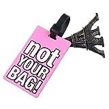 Vovotrade Valigia Etichette per Bagagli ID Indirizzo Holder in silicone Identifier Label (rosa)