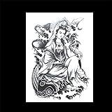 zgmtj Adesivi per Tatuaggi a Forma di Fiore Adesivi per Tatuaggi a Tema Halloween 31 148×210MM