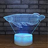 Camera Da Letto Decor Romantico Apparecchi Di Illuminazione 3D Led Goldfish Modelling Desk Lamp 7 Colori Che Cambiano Animali Night Lights Holiday Gifts