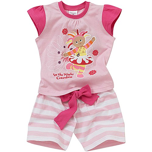 In the Night Garden Ensemble Pyjama Court d'Été Fille Upsy Daisy - Rose - Age 18/23 Mois