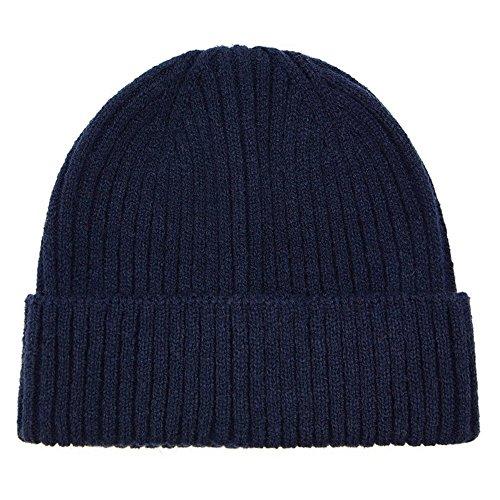 PinzhiUnisex Winter warme Slouchy Cap Ski Skull Hüte stricken Beanie(Marineblau) -