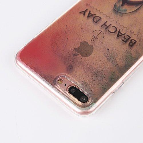 Voguecase Für Apple iPhone 7 Plus 5.5 hülle, Schutzhülle / Case / Cover / Hülle / TPU Gel Skin (Schneeberg 02) + Gratis Universal Eingabestift BEACH DAY