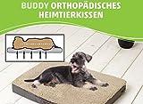 Buddy - orthopädisches Hundekissen Heimtierkissen viskoelastischer SchaumstoffS M L XL (M 79x60x8 cm, braun)