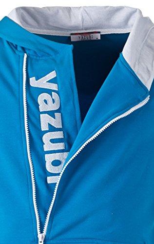 Yazubi Herren Sweatshirts Kapuzenpullover Turquoise