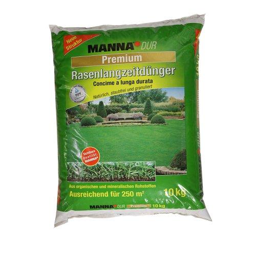 MANNA 122208844 Dur Premium Rasen-Langzeitdünger, 10 kg