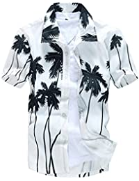Newbestyle Summer Men Hawaiian Shirt Casual Short Sleeve Beach Holidy Shirt