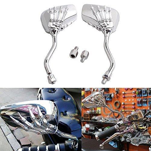 ViZe 10 mm Retrovisores Laterales Espejos Moto Trasera Universal Para Honda Kawasaki...