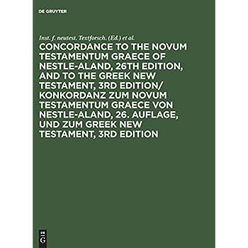 Concordance to the Novum Testamentum Graece