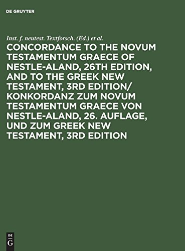 Konkordanz zum Novum Testamentum Graece; Concordance to the Novum Testamentum Graece