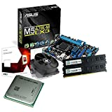tronics24 PC Aufrüstkit | AMD FX-4300 4x 3.8GHz Quad-Core | 8GB DDR3-RAM PC-1333 | ATI Radeon HD3000 512MB | Asus M5A78L-M LX3 Mainboard mit AMD 760G Chipset | Gigabit-LAN | Soundkarte