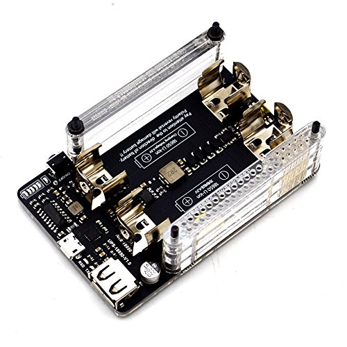 iHaospace UPS Power Extension Board for Raspberry pi 1/pi 2/pi 3 with RTC,Battery Management,5V Output, Serial Port Function, Battery Indicator -