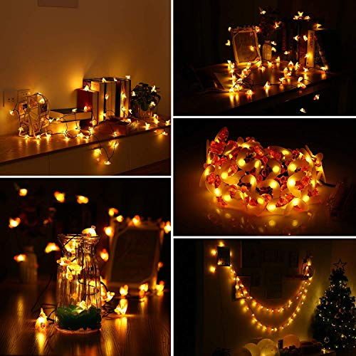Inlife Solar Bee String Lights 23ft 50 Led Decorative Fairy Lights Battery Powered With Remote Control For Wedding Bedroom Garden Christmas Party 1 Pack Buy Online In Faroe Islands At Desertcart Productid 105159090