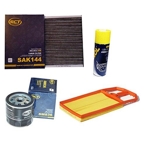Preisvergleich Produktbild Inspektionspaket SCT Aktivkohle Pollenfilter VW Golf 4 1.4 16V & 1.6 16V (55/77kW) Luftfilter Ölfilter Geschenk