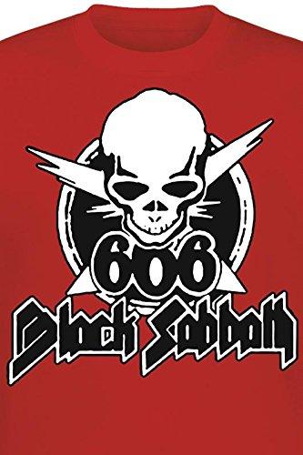 Black Sabbath 666 Skull T-Shirt rot Rot