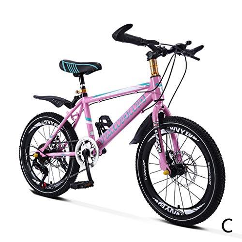 Kinderfahrräder Fahrrad Roller Student Fahrrad verschieben Mountainbike Junge Fahrrad Mädchen Fahrrad 18 Zoll 20 Zoll, Kohlenstoffstahl Stahlrahmen (Color : C, Size : 18inches) -