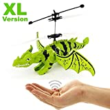 Flying dragon – dinosaurs – aviation sourer, novelty 2018. Easy to control by hand movement. A great gift for Christmas. Helicopter, dragon, dinosaurs, helicopter.