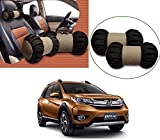 #7: Auto Pearl - Premium Make Cola Beige Round Car Neck Cushion/Neck Pillow For - Honda BRV